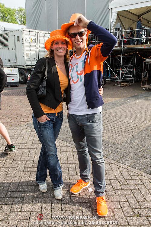 NLD/Breda/20140426 - Radio 538 Koningsdag, Armin van Buuren en partner Erika van Thiel