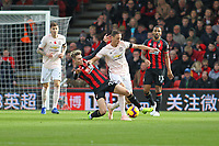 Football - 2018 / 2019 Premier League - AFC Bournemouth vs. Manchester United<br /> <br /> Bournemouth's David Brooks tackles Nemanja Matic of Manchester United during the Premier League match at the Vitality Stadium (Dean Court) Bournemouth   <br /> <br /> COLORSPORT/SHAUN BOGGUST