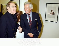 Left to right, the EARL OF SNOWDON and the EARL OF LICHFIELD at an exhibition in London on 6th May 2003.PJI 299