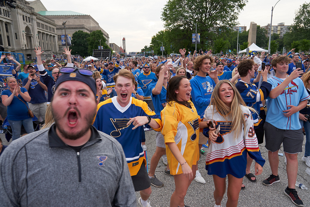 St. Louis Blues Stanley Cup Game 4 watch party on June 3, 2019.