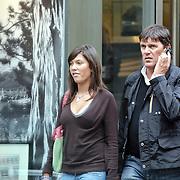 NLD/Amsterdam/20080820 - Frank Masmeijer winkelend in Amsterdam met vermoedelijk zijn dochter