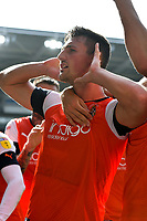 Football - 2019 / 2020 Sky Bet (EFL) Championship - Cardiff City vs. Luton Town<br /> <br /> Matty Pearson of Luton Town celebrates scoring his team's first goal, at Cardiff City Stadium.<br /> <br /> COLORSPORT/WINSTON BYNORTH