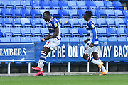 Goal 2-1 - Yakou Meite (11) of Reading celebrates scoring a goal to give Reading the lead again during the EFL Sky Bet Championship match between Reading and Bristol City at the Madejski Stadium, Reading, England on 28 November 2020.