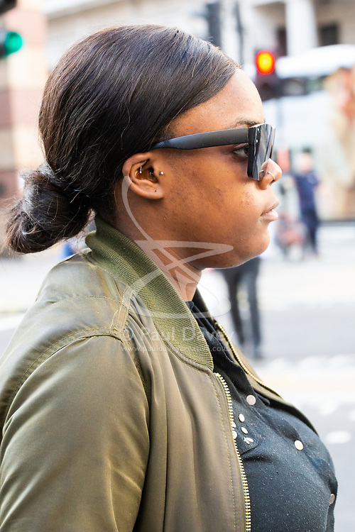 Millicent Barnes leaves the City of London Magistrates Court. London, October 05 2018.