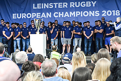 May 13, 2018 - Dublin, Ireland - Leinster Team during the homecoming ceremony at Energia Park, Donnybrook, following their victory in the European Champions Cup Final in Bilbao, Spain..On Sunday, May 13, 2018, in Donnybrook, Dublin, Ireland. (Credit Image: © Artur Widak/NurPhoto via ZUMA Press)