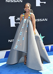June 23, 2019 - Los Angeles, California, U.S. - 23 June 2019 - Los Angeles, California - Nomzamo Mbatha. 2019 BET Awards held at the Microsoft Theater. Photo Credit: Birdie Thompson/AdMedia (Credit Image: © Birdie Thompson/AdMedia via ZUMA Wire)