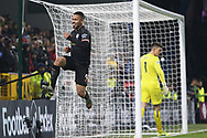 Manchester City forward Gabriel Jesus (9) celebrates his goal 0-2  during the Premier League match between Burnley and Manchester City at Turf Moor, Burnley, England on 3 December 2019.