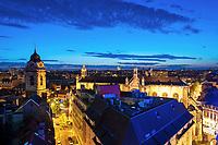 A view over Sainte Catherine/Sint Katelijne in Brussels at dusk