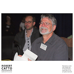 Barrie Osborne;Leon Narbey at the Spada Conference 2005: Small Country, Big Picture at the Intercontinental Hotel, Wellington, New Zealand.