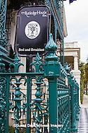 66512-00105 Iron fence and decorations on John Rutledge House Inn Bed & Breakfast, Charleston, SC
