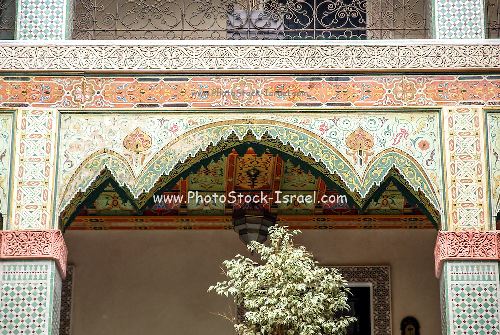Details of a building in the Mellah or old Jewish quarter Fes, Morocco