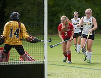 St Paul's School varsity field hockey versus Tilton School September 17, 2014.  ©2014 Karen Bobotas Photographer