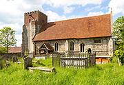 Village parish church of All Saints, Little Wenham, Suffolk, England, UK