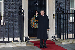 London, UK. 3 December, 2019. Turkish President Recep Tayyip Erdoğan arrives at 10 Downing Street for a meeting with French President Emmanuel Macron hosted by Prime Minister Boris Johnson and German Chancellor Angela Merkel to discuss the ongoing dispute between the two Presidents following the Turkish invasion of Kurdish-controlled areas of northern Syria.