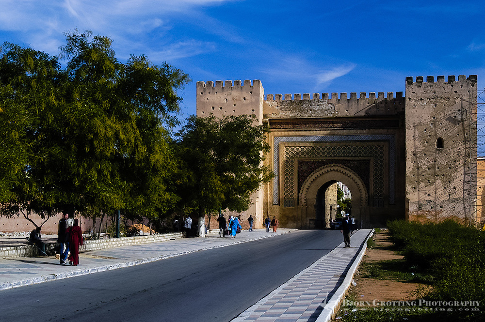 Morocco. The Bab el-Khemis Gate in Meknes.