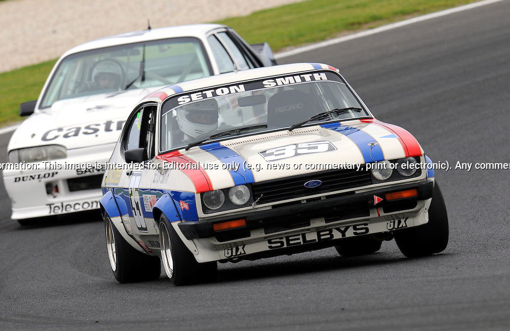 Carl Muller - Ford Capri 3.0S  - Group E.Historic Motorsport Racing - Phillip Island Classic.18th March 2011.Phillip Island Racetrack, Phillip Island, Victoria.(C) Joel Strickland Photographics.Use information: This image is intended for Editorial use only (e.g. news or commentary, print or electronic). Any commercial or promotional use requires additional clearance.