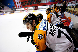 Kevin Moderer of Graz during ice hockey match between HK Acroni Jesenice and  Moser Medical Graz 99ers in 24th Round of EBEL league, on December 3, 2010 in Arena Podmezakla, Jesenice, Slovenia. Graz defeated Jesenice 3-0.  (Photo By Vid Ponikvar / Sportida.com)