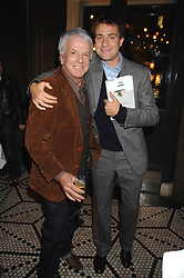 Left to right, NICKY HASLAM and BEN GOLDSMITH at a party to celebrate the publication of Table Talk by A  A Gill held at Luciano, 72-73 St.James's, London on 22nd October 2007.<br /><br />NON EXCLUSIVE - WORLD RIGHTS