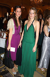 Left to right, INDIA LANGTON and ALICE ROTHSCHILD at a dinner in aid of the BAAF (British Association for Adoption & Fostering) held at The Savoy, London on 22nd March 2005.<br /><br />NON EXCLUSIVE - WORLD RIGHTS