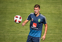 July 4, 2018 - Gelendzhik, Russia - 180704 Emil Krafth of the Swedish national football team at a practice session during the FIFA World Cup on July 4, 2018 in Gelendzhik..Photo: Petter Arvidson / BILDBYRÃ…N / kod PA / 92081 (Credit Image: © Petter Arvidson/Bildbyran via ZUMA Press)