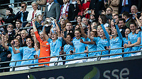 Football - 2019 SSE Women's FA Cup Final - Manchester City vs. West Ham United<br /> <br /> Manchester City captain Steph Houghton (Manchester City) lifts the trophy at Wembley Stadium.<br /> <br /> COLORSPORT/DANIEL BEARHAM