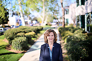 Mary Ball, President and CEO of Alzheimer's San Diego stands outside of their office on Friday, February 26, 2016 in San Diego, California.(Photo by Sandy Huffaker for STAT News)