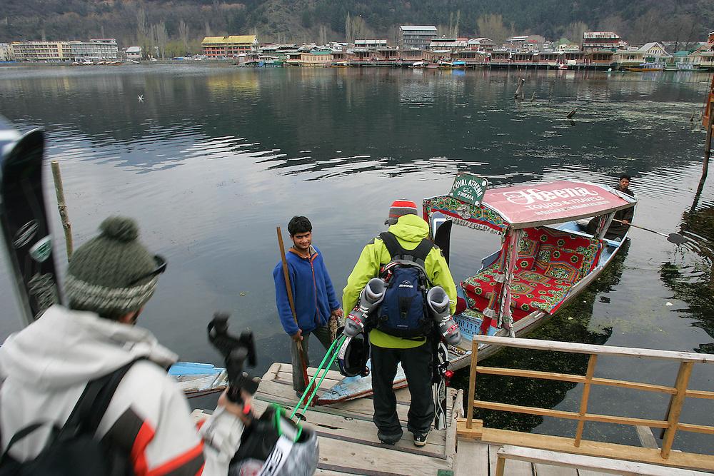 Rider: Phil Meier, Seb Michaud, Baptiste Blanc.Location: Dal Lake at Srinagar (Kashmir India)