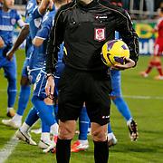 Referee's Yunus Yildirim during their Turkish superleague soccer match Besiktas between Kardemir Karabukspor at BJK Inonu Stadium in Istanbul Turkey on Friady, 01 February 2013. Photo by TURKPIX