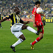 Fenerbahce's Webo and Benfica's Garay (R) during their UEFA Europa League Semi Final first match Fenerbahce between Benfica at Sukru Saracaoglu stadium in Istanbul Turkey on Thursday 25 April 2013. Photo by Aykut AKICI/TURKPIX