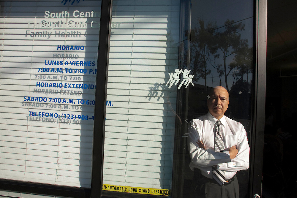 Richard A. Veloz is the Chief Executive of South Central Family Health Center in Los Angeles. The center serves mostly a poor, immigrant community and has received two grants as part of President Obama's stimulus package. Please contact Todd Bigelow directly with your licensing requests.
