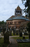 CHARLESTON, SOUTH CAROLINA - CIRCA DECEMBER 2019: St. Philips Church Episcopal West Cemetery and Circular Congretional Church