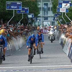 TRENTO (ITA): CYCLING: SEPTEMBER 8th: Italie wint de Mixed Relay voor Duitsland en Nederland