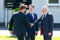 © Licensed to London News Pictures. 12/06/2015. Fort William, UK. Danny Alexander and Former Liberal Democrat leader Nick Clegg attending the funeral of ex-Liberal Democrat leader Charles Kennedy at St John's Church in Caol, near his Fort William home in Scotland on Friday, June 12, 2015. Mr Kennedy died suddenly on June 1, 2015 at the age of 55 after suffering a major haemorrhage as a result of a long battle with alcoholism. Photo credit: Tolga Akmen/LNP