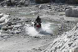 Dave Nolan made his way through a fun spot as we were beginning to understand water would keep crossing our path on day-4 of our Himalayan Heroes adventure riding from Pokhara to Kalopani, Nepal. Friday, November 9, 2018. Photography ©2018 Michael Lichter.