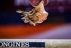 October 28, 2018 - Doha, Quatar - Mette Hulgaard of Denmark   during  Balancing Beam qualification at the Aspire Dome in Doha, Qatar, Artistic FIG Gymnastics World Championships on 28 of October 2018. (Credit Image: © Ulrik Pedersen/NurPhoto via ZUMA Press)
