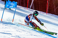 FRANCONIA, NH - MARCH 10: Tommy Kenosh of the Saint Lawrence Saints during the Men's Giant Slalom race at the Division I Men's and Women's Skiing Championships held at Cannon Mountain on March 10, 2021 in Franconia, New Hampshire. (Photo by Brett Wilhelm/NCAA Photos via Getty Images)