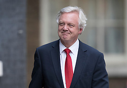 © Licensed to London News Pictures. 13/07/2016. London, UK. David Davies arrives in Downing Street to meet with new Prime Minister Theresa May.  Photo credit: Peter Macdiarmid/LNP