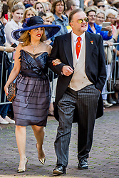 Prince Alexander of Schaumburg-Lippe and his partner Mahkameh Navabi at the wedding ceremony of heir of the throne of German House of Hanover, Prince Ernst August Jr. of Hanover, Duke of Braunscshweig and Lueneburg, and Russian designer Ekaterina Masysheva at the Marktkirche church in Hanover, Germany, 08 July 2017. The son of Prince Ernst August of Hanover Sen., who is married to Princess Caroline of Monaco, is related to several royal houses in Europe. The House of Hanover is a German royal dynasty that also ruled the United Kingdom between. Ernst-August Sr.'s own father (Ernst-August IV) opposed his son's marriage to first wife Chantal, a Swiss commoner. Photo by Robin Utrecht/ABACAPRESS.COM