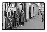 Greenwich pier, London, 1982. South-East London, 1982