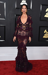 Celebrities arrive on the red carpet for the 59th Grammy Awards held at the Staples Centre in downtown Los Angeles, California. 12 Feb 2017 Pictured: Nicole Trunfio. Photo credit: MEGA TheMegaAgency.com +1 888 505 6342