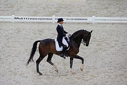 Janette Bouman, (KAZ), V Power - Grand Prix Team Competition Dressage - Alltech FEI World Equestrian Games™ 2014 - Normandy, France.<br /> © Hippo Foto Team - Leanjo de Koster<br /> 25/06/14