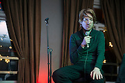 NO FEE PICTURES <br /> 30/12/14 Domhnall Gleeson at the NYF Spoken Word Festival at the Odessa Club in Dublin. Picture:Arthur Carron