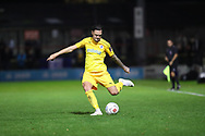 Chester defender Simon Grand (3) in action during the Vanarama National League match between York City and Chester FC at Bootham Crescent, York, England on 13 November 2018.