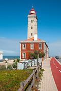 Penedo da Saudade Lighthouse (Farol Penedo da Saudade) at Sao Pedro de Moel, Marinha Grande, Portugal