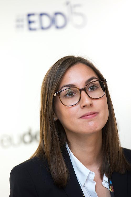 03 June 2015 - Belgium - Brussels - European Development Days - EDD - Jobs - Managing business impacts on sustainable development  - Sonja Siewerth<br /> Associate Analyst © European Union
