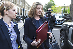 May 2, 2019 - London, London, UK - London, UK. Newly-appointed Secretary of State for Defence Penny Mordaunt leaves her London home. Former Secretary of State for Defence Gavin Williamson has been sacked for alleged involvement in leaking sensitive information over HuaweiÃ•s possible involvement in building the UKÃ•s 5G network. (Credit Image: © Rob Pinney/London News Pictures via ZUMA Wire)
