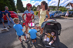 July 28, 2018 - Les Bons Villers, BELGIUM - Belgian Baptiste Planckaert of Katusha-Alpecin picturd with his family after the first stage of the Tour De Wallonie cycling race, 193,4 km from La Louviere to Les Bons Villers, on Saturday 28 July 2018. BELGA PHOTO LUC CLAESSEN (Credit Image: © Luc Claessen/Belga via ZUMA Press)