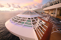 The launch of Royal Caribbean International's Oasis of the Seas, the worlds largest cruise ship..Cantilevered  Whirlpool