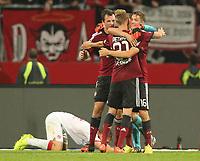 Fotball<br /> Tyskland<br /> 29.09.2014<br /> Foto: imago/Digitalsport<br /> NORWAY ONLY<br /> <br /> 2. Fussball - Bundesliga - 08. Spieltag: 1. FC Nürnberg - FC Kaiserslautern FCK<br /> <br /> Jubel nach Spielende - Ondrej Petrak (31, 1.FC Nürnberg / FCN ), Even Hovland (3, 1.FC Nürnberg / FCN ), Patrick Rakovsky (22, 1.FC Nürnberg / FCN ), Niklas Stark (16, 1.FC Nürnberg / FCN ) - Freude - Willi Orban (4, 1. FC Kaiserlautern )
