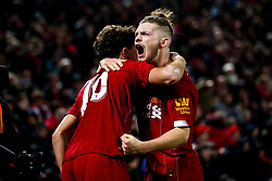 Harvey Elliott of Liverpool celebrates with Neco Williams of Liverpool - Mandatory by-line: Robbie Stephenson/JMP - 30/10/2019 - FOOTBALL - Anfield - Liverpool, England - Liverpool v Arsenal - Carabao Cup